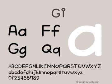 系统字体 粗斜体 G1 Version 1.00 October 19, 2015, initial release Font Sample