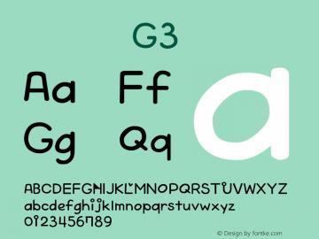 系统字体 粗体 G3 Version 1.00 October 19, 2015, initial release Font Sample