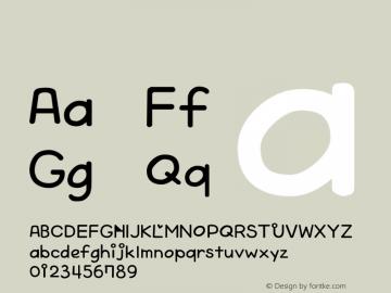 系统字体 斜体 Version 1.00 October 19, 2015, initial release Font Sample