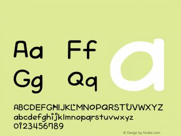 系统字体 常规体 Version 1.00 October 19, 2015, initial release Font Sample