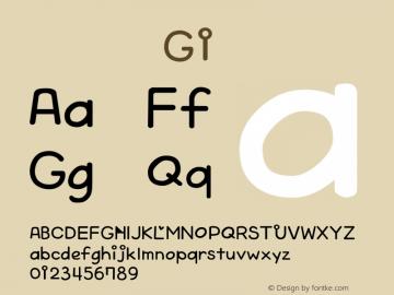 系统字体 斜体 G1 Version 1.00 October 19, 2015, initial release Font Sample