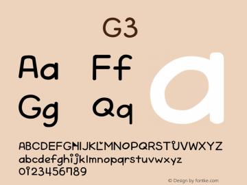 系统字体 斜体 G3 Version 1.00 October 19, 2015, initial release Font Sample