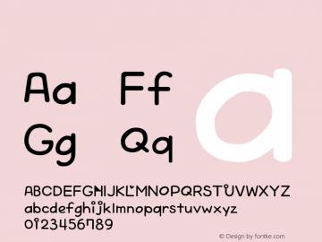 系统字体 半粗斜体 Version 1.00 October 19, 2015, initial release Font Sample