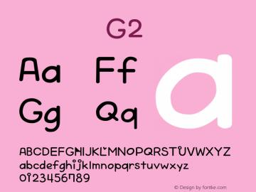 系统字体 斜体 G2 Version 1.00 October 19, 2015, initial release Font Sample
