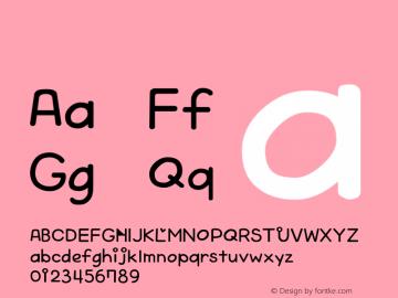 系统字体 半粗体 Version 1.00 October 19, 2015, initial release Font Sample