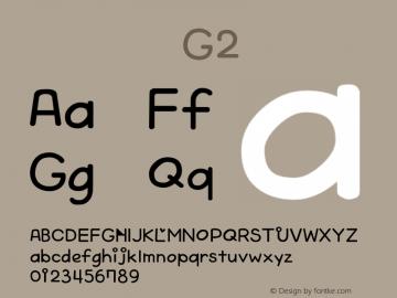系统字体 常规体 G2 Version 1.00 October 19, 2015, initial release Font Sample