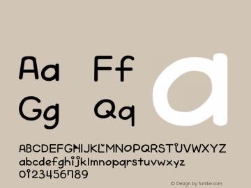 系统字体 中等体 Version 1.00 October 19, 2015, initial release Font Sample