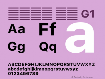 系统字体 粗体 G1 11.0d60e1 Font Sample