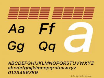 系统字体 中等斜体 11.0d60e1 Font Sample