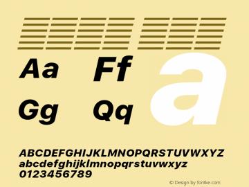 系统字体 粗斜体 11.0d60e1 Font Sample