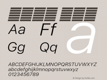系统字体 细斜体 11.0d60e1 Font Sample