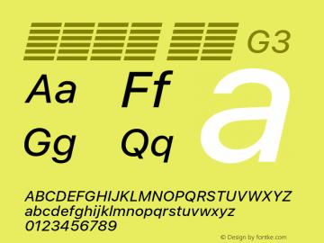 系统字体 斜体 G3 11.0d60e1 Font Sample