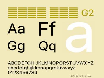 系统字体 常规体 G2 11.0d60e1 Font Sample