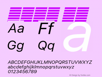 系统字体 斜体 11.0d60e1 Font Sample