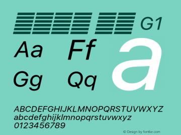 系统字体 斜体 G1 11.0d60e1 Font Sample