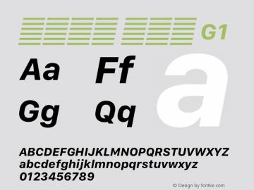 系统字体 粗斜体 G1 11.0d12e2 Font Sample