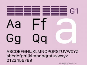 系统字体 常规体 G1 11.0d12e2 Font Sample