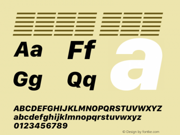 系统字体 粗斜体 11.0d12e2 Font Sample