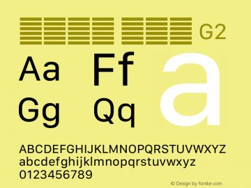 系统字体 常规体 G2 11.0d12e2 Font Sample