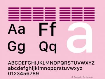 系统字体 中等体 11.0d12e2 Font Sample