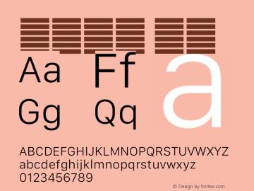 系统字体 细体 11.0d12e2 Font Sample