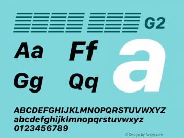 系统字体 粗斜体 G2 11.0d12e2 Font Sample