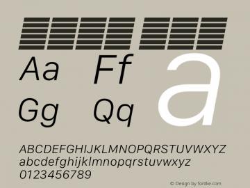 系统字体 细斜体 11.0d12e2 Font Sample