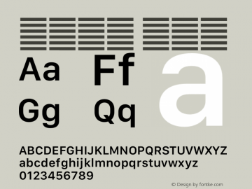 系统字体 半粗体 11.0d12e2 Font Sample
