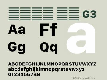 系统字体 粗体 G3 11.0d12e2 Font Sample