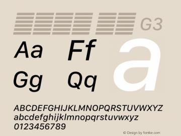 系统字体 斜体 G3 11.0d12e2 Font Sample