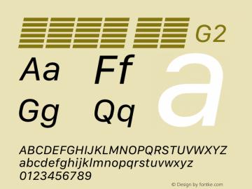 系统字体 斜体 G2 11.0d12e2 Font Sample
