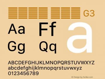 系统字体 常规体 G3 11.0d12e2 Font Sample