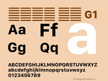 系统字体 粗体 G1 11.0d12e2 Font Sample