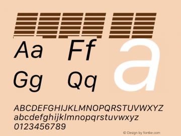 系统字体 斜体 11.0d12e2 Font Sample