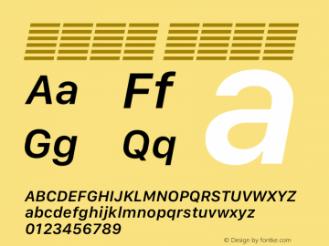 系统字体 半粗斜体 11.0d12e2 Font Sample