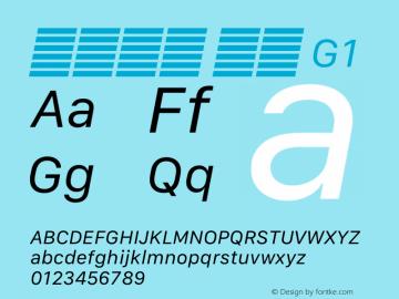 系统字体 斜体 G1 11.0d12e2 Font Sample