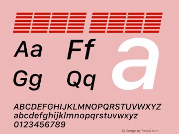 系统字体 中等斜体 11.0d12e2 Font Sample