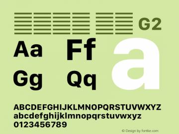 系统字体 粗体 G2 11.0d12e2 Font Sample