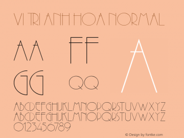 VI Tri Anh Hoa Normal 1.0 Thu Oct 14 14:49:46 1993 Font Sample
