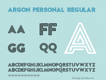 Argon PERSONAL Regular Version 1.002;PS 001.002;hotconv 1.0.70;makeotf.lib2.5.58329 Font Sample