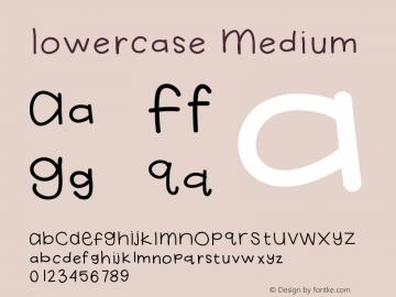Lowercase Medium Version 001.000 Font Sample