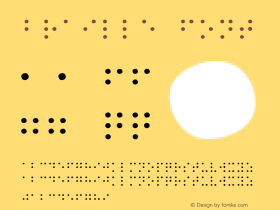 Braille Font 1.0 Mon Oct 18 19:38:09 1993 Font Sample