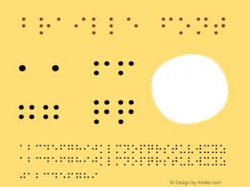 Braille Font 1.0 Mon Oct 18 19:38:09 1993 Font Sample
