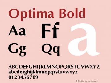 Optima Bold Version 001.005 Font Sample