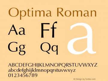 Optima Roman Version 001.005 Font Sample