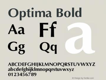Optima Bold Version 001.007 Font Sample