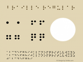 Braille Regular Altsys Fontographer 3.5  9/30/92 Font Sample