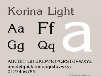 Korina Light Version 001.000 Font Sample