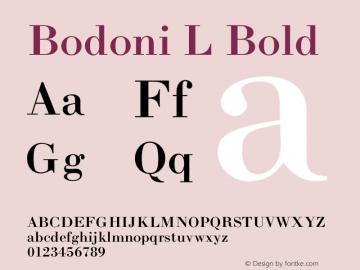 Bodoni L Bold 001.000 Font Sample