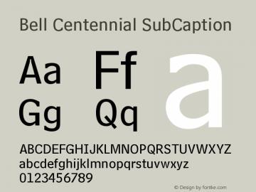 Bell Centennial SubCaption Version 003.001图片样张